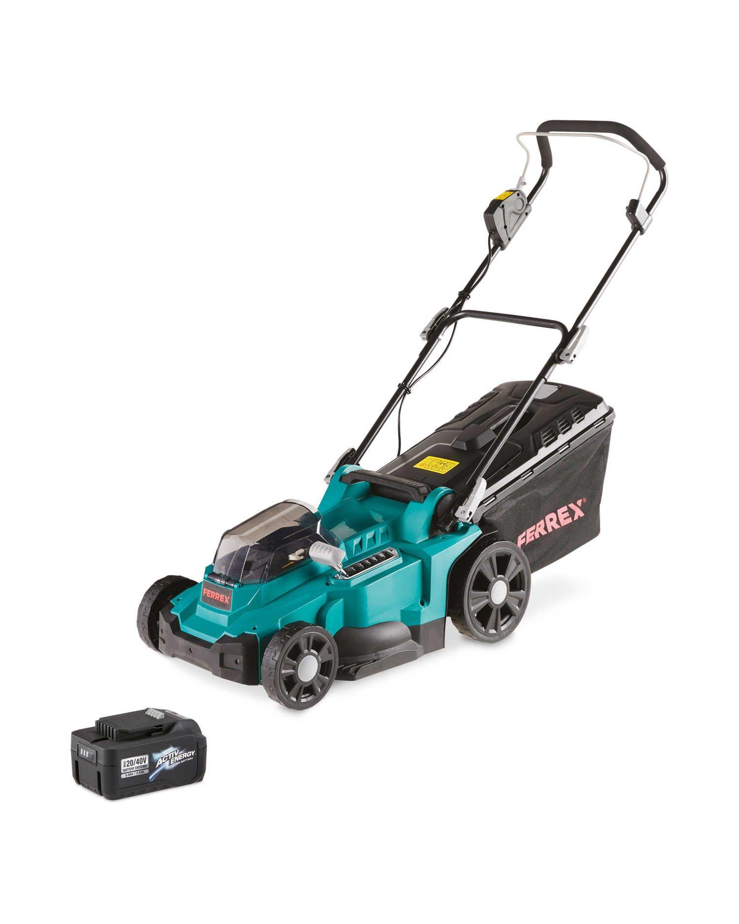 Ferrex Cordless Lawn Mower & 20/40V Battery £115 at Aldi