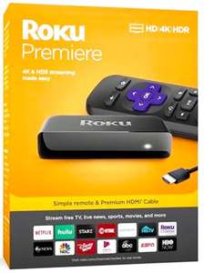 Roku Premiere Streaming Player £29.99 + £3.99 del @ Very