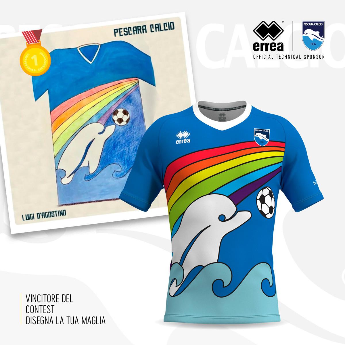 2020 Pescara Special Edition Rainbow Home Shirt £39.99 + £3.75 del at Classic Football Shirts (pre-order)