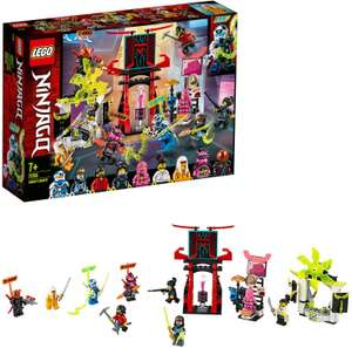 LEGO 71708 Ninjago Gamer's Market Nine Minifigures Set with Digi Jay, Avatar Pink - £23.99 delivered @ Amazon
