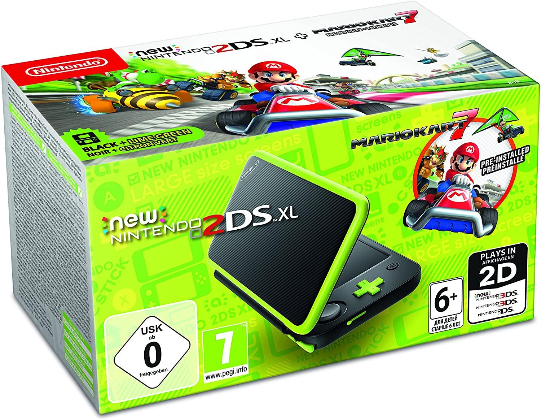 Nintendo 2DS XL Black & Lime Green Pre-Installed With Mario Kart 7 £96.94 @ Amazon