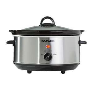 Daewoo 3.5L Slow Cooker - Stainless Steel £16.94 delivered @ Robert Dyas ( £15.74 with student/NHS discount)