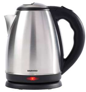 Daewoo 1.8L Brushed or Polished Kettle - £13.69 delivered with code @ Groupon