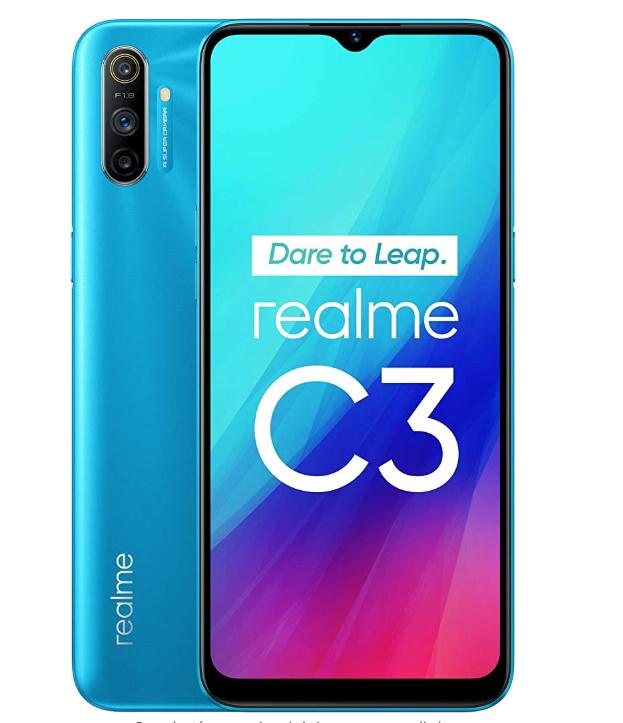 """Realme C3 - Smartphone de 6.5"""" LCD multi-touch, 3 GB RAM + 64 GB ROM £128.76 @ Amazon Spain"""