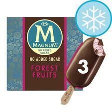 Magnum No Added Sugar Vanilla Caramel / Forest FruitsIce Cream 3X90ml @ Tesco for £1.94