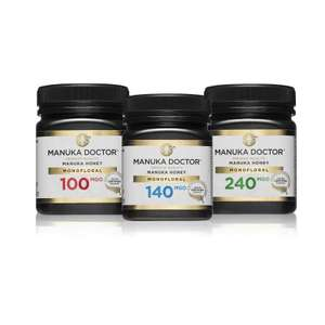 MGO Monofloral Mānuka Honey Trio Pack £36.50 delivered with code @ Manuka Doctor