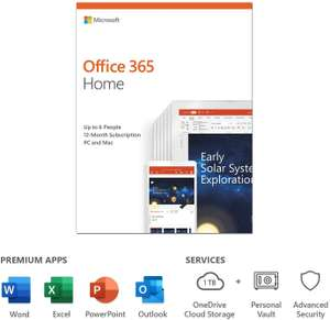 Microsoft 365 Family | Office 365 Apps | Up to Six Users | One Year Subscription | Multiple PCs/Macs, Tablets and Phones £47.99 Amazon