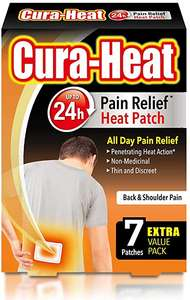 Cura Heat Back & Shoulder Pain, 1 Pack of 7 Patches £4.67 (£4.44 with S&S / + £4.49 NP) at Amazon