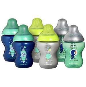 Tommee Tippee Closer to Nature Decorated baby Bottles, Blue, 260 ml, 6-Piece £18.99 prime / £23.48 non prime Amazon