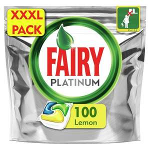 Fairy Dishwasher Plat Yellow Tablets 100 - £12 at Tesco