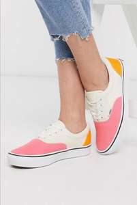 Vans Authentic ComfyCush Era Shoes Canvas Strawberry Pink White - £28 + £4 Delivery @ ASOS
