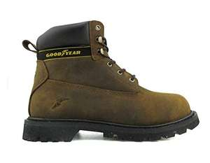 Goodyear Workwear Mens Waterproof Steel Toe Safety Boots, Brown, UK8 - £17.95 (Prime) / £22.42 (None Prime) @ Amazon