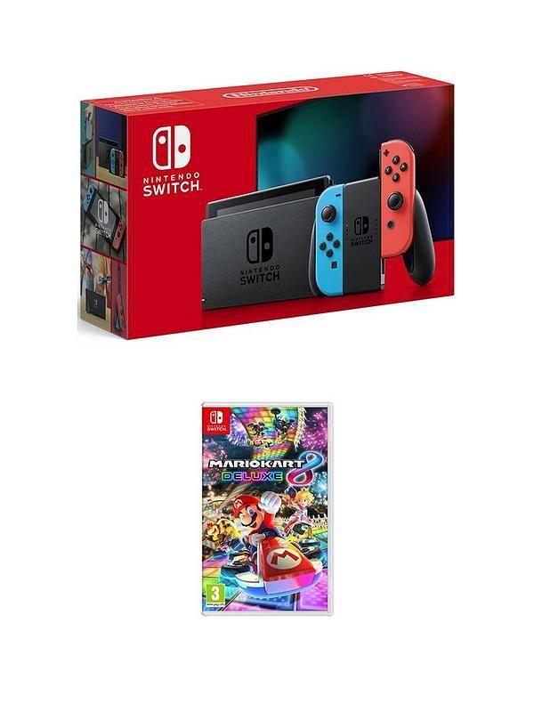 Nintendo switch with Mario kart 8 deluxe £319.99 @ Very