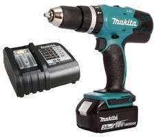 Makita LXT - 18v Cordless Combi Drill - 3Ah battery with charger £89.99 - CPC Farnell