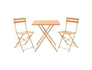 Habitat Parc coral folding bistro set (table and two chairs) for £100 delivered using code @ Habitat