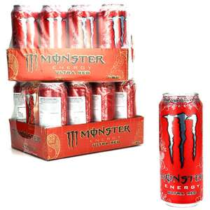 Monster Energy Ultra Red 24 x 500ml Cans £18 @ Yankee Bundles