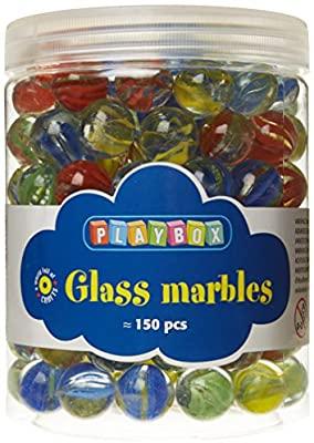 Playbox Glass Marbles, Set of 150 Pieces, Multi Color £5.25 (+£4.49 Non Prime) @ Amazon