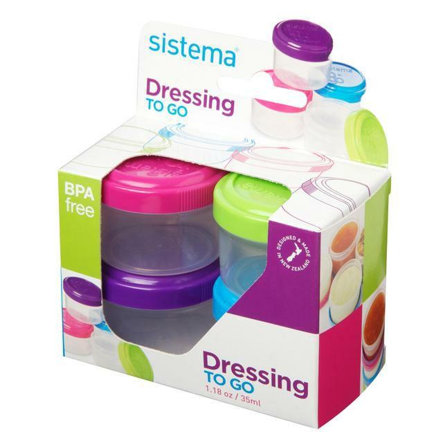 Sistema Dressing Pots To Go Containers - 4 x 35 ml £1.50 @ Amazon (+£4.49 non-prime)