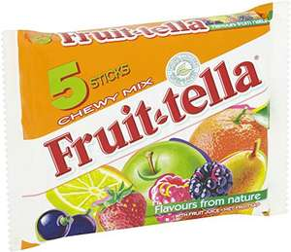 Fruit tella Chewy Mix, 1 Pack of 5 Sticks £1 (+£4.49 non-prime) @ Amazon