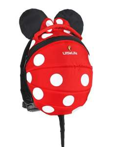 Disney Minnie Mouse Kids backpack with reins £11.04 delivered at Little Life