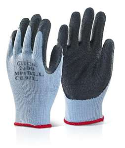 Small / Large Safety Work Gloves with Latex Palms £1.99 (Prime) + £4.49 (non Prime) at Amazon