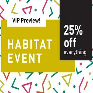 25% off everything at Habitat - VIP sale