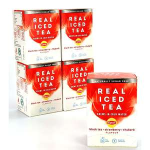 5 x Lipton Strawberry & Rhubarb Real Iced Tea 33g (15 bags) Boxes for £7 delivered @ Yankee Bundles