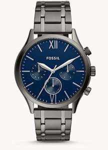 Fenmore Midsize Multifunction Smoke Stainless Steel Watch With free engraving And extra 15% off with new customer sign in £47 at Fossil