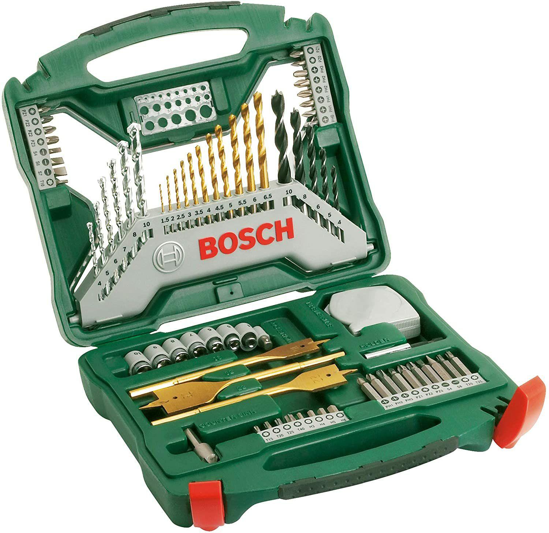 Bosch 2607019329 Titanium Drill and Screwdriver Set, 70 Pieces £18.69 (+£4.49 Non Prime) @ Amazon