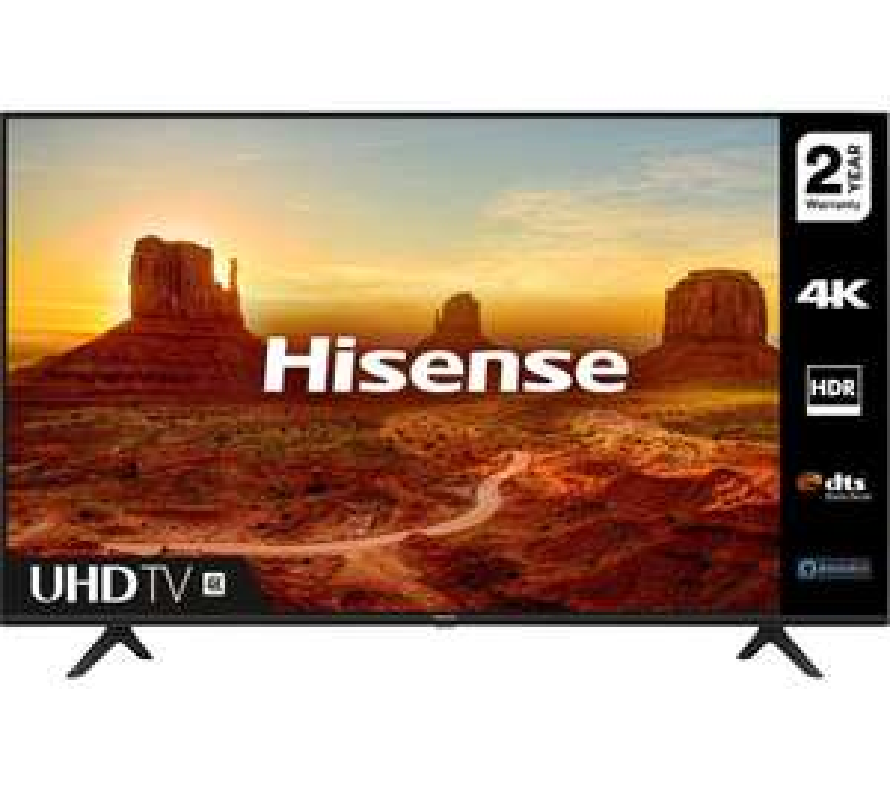 "HISENSE58A7100FTUK 58"" Smart 4K Ultra HD HDR LED TV with Amazon Alexa £349 @ Amazon"