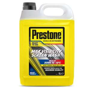 Prestone Max Visibility Screenwash 5L £2.50 @ Tesco (Min basket £40 + up to £7 delivery)
