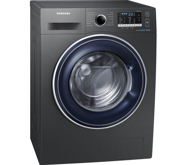 SAMSUNG ecobubble WW80J5555FX/EU 8kg 1400rpm Washing Machine - Graphite/White with 5 Year Warranty £329 with code @ Currys