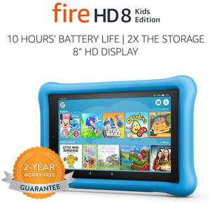 "Fire HD 8 Kids Edition Tablet, 8"" HD Display, 32 GB - 4 colours, £64.99 @ Amazon"