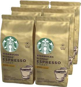 STARBUCKS Espresso Roast Blonde Roast Whole Bean Coffee, 200 g (Pack of 6) £16.50 (Prime) / £20.99 (non Prime) at Amazon