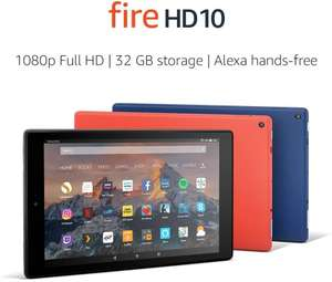 Fire HD 10 Tablet, 1080p Full HD Display, 64 GB, (Previous Generation - 7th) 3 Colours - £89.99 Amazon