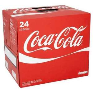 24 Pack of Coca-Cola 330ml Cans for £1.80 + £2.99 Delivery @ Euro Office