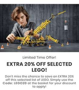 20% Off a range of LEGO sets - from £17.99 + £2.99 delivery @ IWOOT
