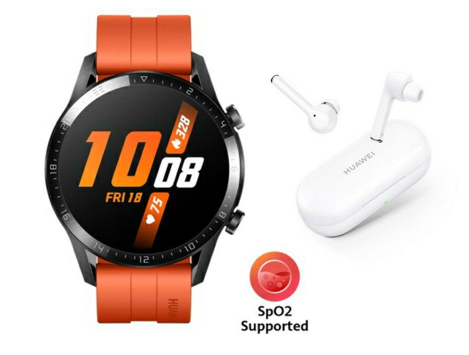 HUAWEI WATCH GT 2 46mm Orange + Huawei FreeBuds 3i Totally Wireless Earphones - £189.99 @ Huawei Store UK