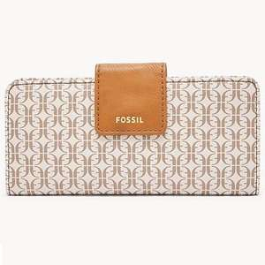 Fossil Madison Slim Clutch Wallet in Cream or Brown with 16 Credit Card Slots now £16.00 + Free Delivery @ Fossil