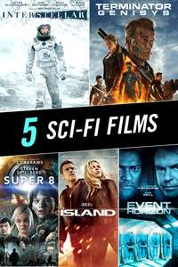 5 Sci-Fi Movies 4K/HD To Own £12.14 ($14.99) on iTunes US