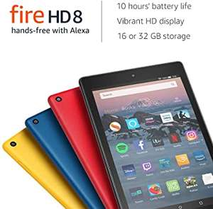 Fire HD 8 Tablet, 32 GB, 4 colours, with Special Offers (Previous Generation - 8th) with Alexa £64.99 @ Amazon