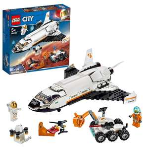 LEGO 60226 City Mars Research Shuttle Spaceship Construction Toys for Kids with Rover and Drone £19.20 prime / £23.69 non prime @ Amazon