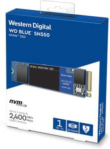 WD Blue SN550 1TB High-Performance M.2 Pcie NVMe SSD up to 2,400 MB/s for £107.99 delivered @ Amazon