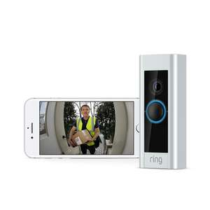 Ring Video Doorbell Pro Kit with Chime and Transformer, 1080p HD, Two-Way Talk, Wi-Fi, Motion Detection £179 Amazon