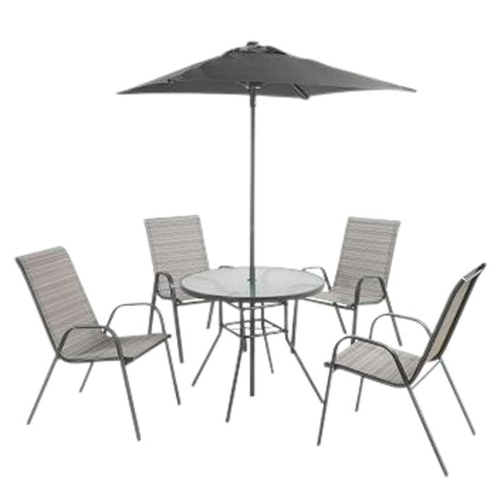 Andorra Metal 4 Seater Garden Furniture Set in Grey £110 delivered @ Homebase