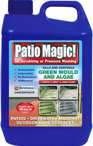 Patio Magic! 2.5 Liters Concentrate: Ideal for Patios, Paths and Driveways (Kills Algae, Moss and Lichens) £6 prime / £10.48 n/p @ Amazon
