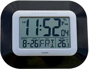 Jumbo LCD Radio Controlled Clock (Black) - £12.99 (Prime) £17.48 (Non Prime) @ Sold by TimesLink and Fulfilled by Amazon.