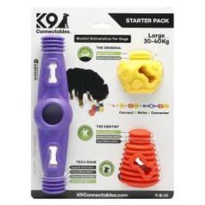 K9 Connectables Large Dog Toy Starter Pack Purple/orange/yellow 3 piece £20.78 Delivered free From Pet Things/On Buy