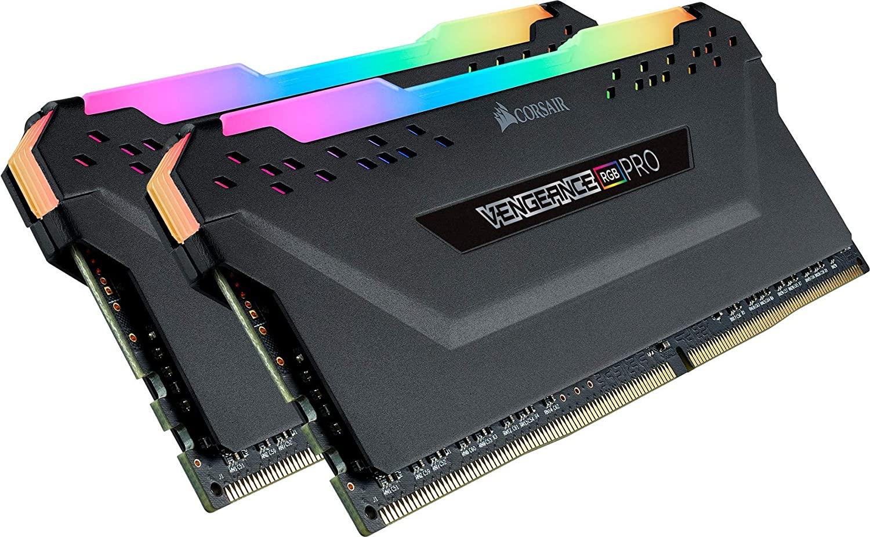 Corsair Vengeance RGB PRO 32 GB (2 x 16 GB) DDR4 3200 MHz C16 XMP 2.0 Enthusiast RGB LED Illuminated Memory Kit - Black £154.99 @ Amazon