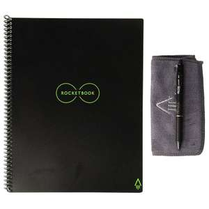 Rocketbook Everlast Smart Re-usable Notebook / Journal A4 - Infinity Black £24.99 at MyMemory